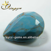 Pear Faceted Cut China Synthetic Turquoise