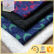 OEM colorful floral lace fabric wholesale nylon blended cotton guipure lace fabric