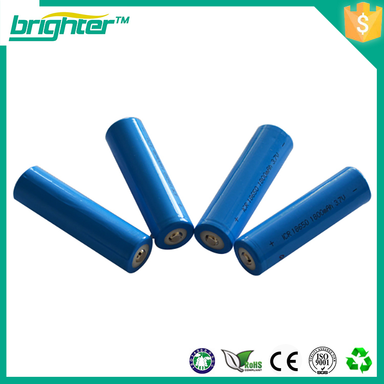 2016 icr18650 li ion battery 3.7v 1200mah