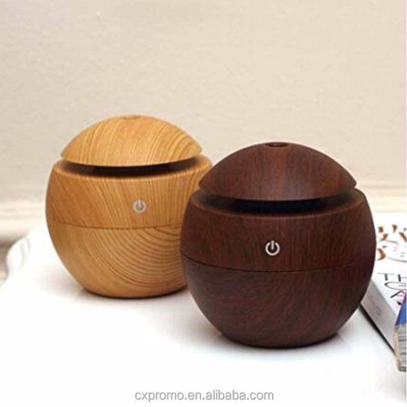 Colorful home wood humidifier aromatherapy essential oil diffuser
