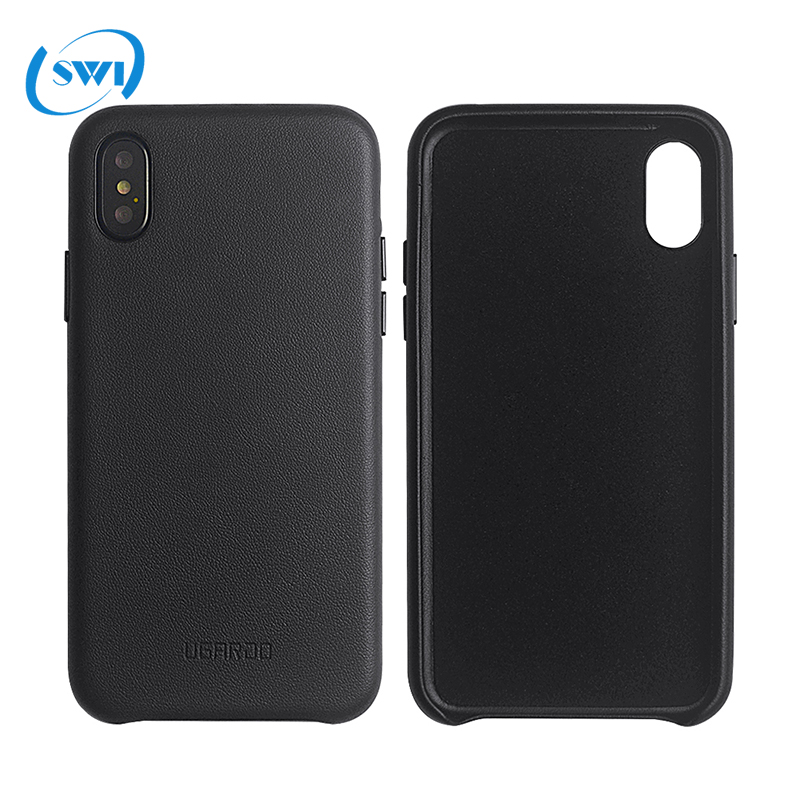 2017 Hot new products Premium PU Leather mobile cover in stock Ugardo PU Leather Phone Case for iphone X case custom