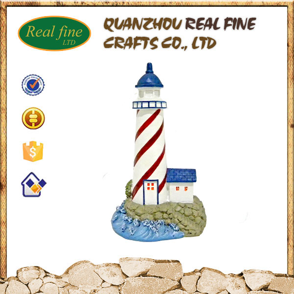 High quality resin lighthouse model for souvenir