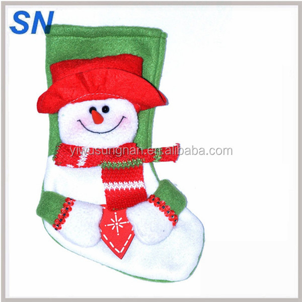 yiwu supply fashion lovely exquisite combed cotton plant fiber Christmas stocking socks