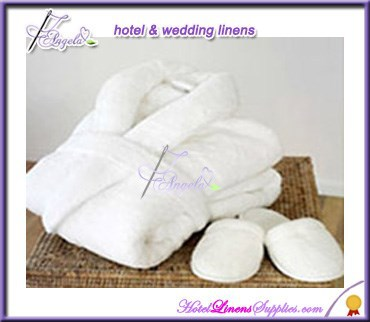 shawl collar wholesale white terry bathrobe, terry bath robes in shawl collar style for hotels, motels, spas, clubs