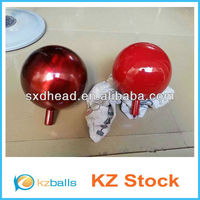 Red Stainless Steel Gazing Ball Mirror