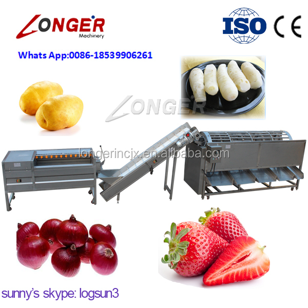 Best Price Round Shaped Fruit And Vegetables Washing Sorting Line