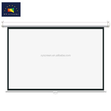 Cheapest manual / roll down projector screen,ceiling mount projection screen