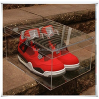 Luxury high glass acrylic shoe display case for adidas