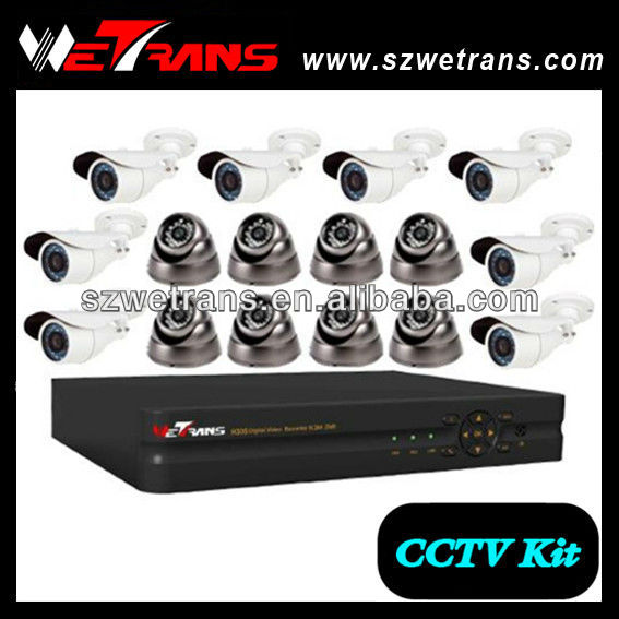 WETRANS CCTV Home Security System, 16CH H.264 Cheap DVR and CCTV Secure DVR Camera