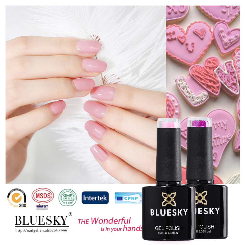 Bluesky supplier easy soak off UV LED Gel Nail Cosmetic Polish