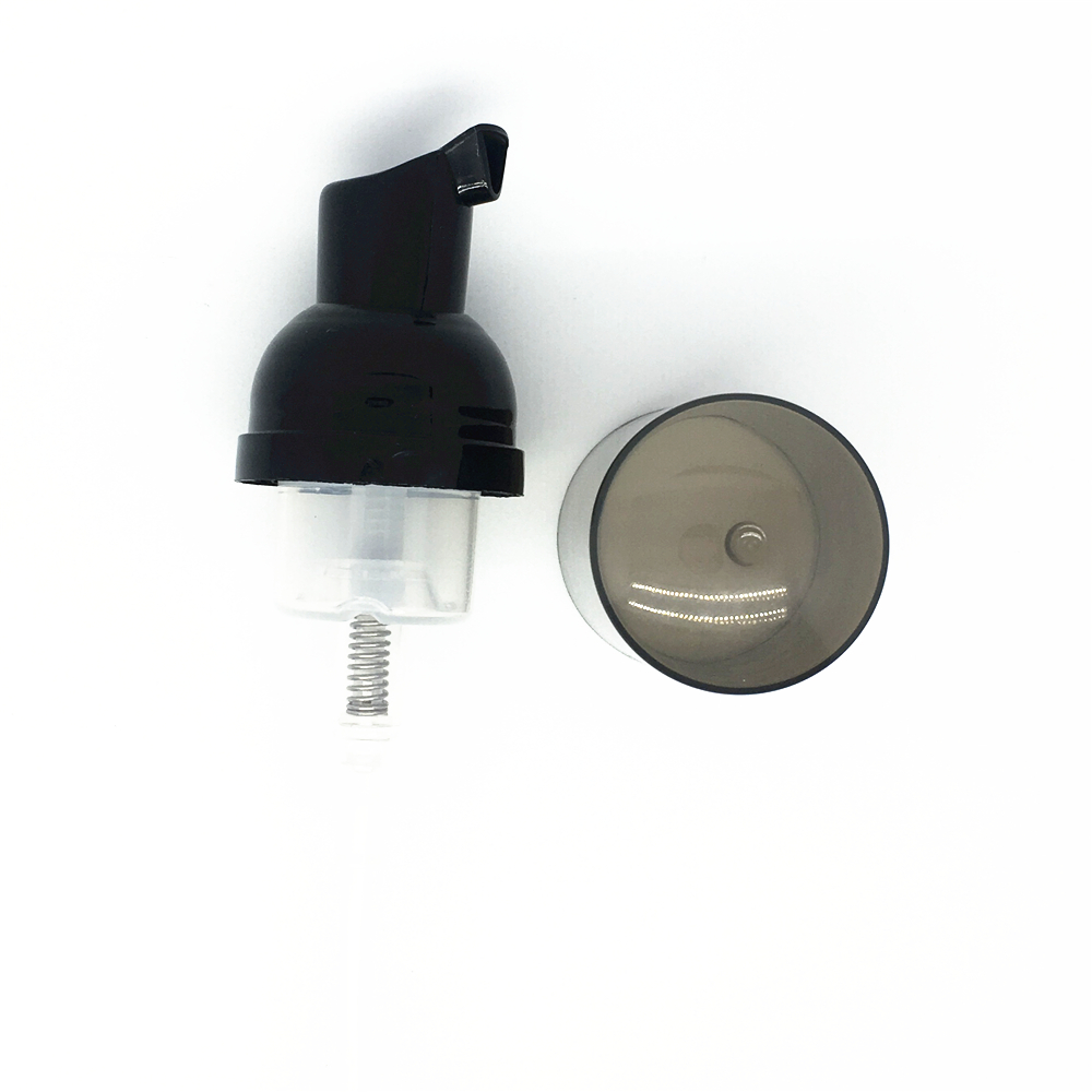 screw soap dispenser foam liquid soap pump,30/410 black plastic foam pump