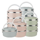 Colorful food storage containers insulated tiffin food warmer stainless steel lunch boxes