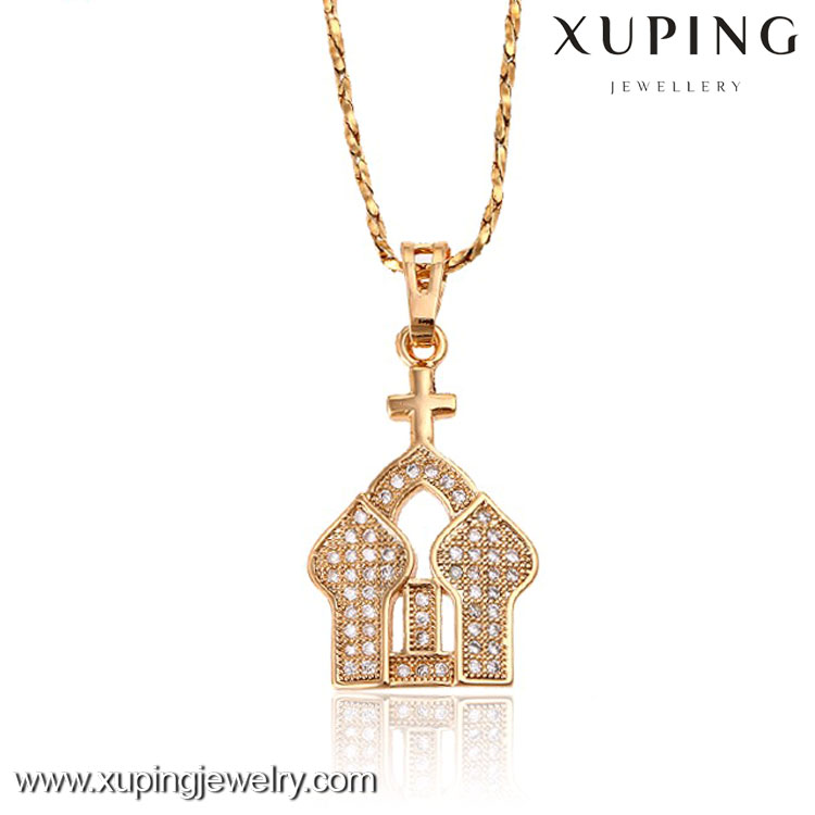 31811-Xuping 2016 18k alloy pendant jewelry fashion with church design