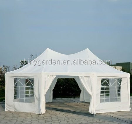 Outsunny 22' x 16' Large Octagon Octangle 8-Wall Party Wedding Tent Canopy Gazebo Shelter