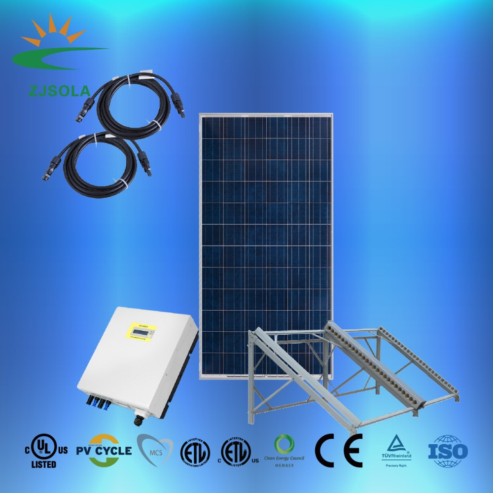 ZJSOLA off grid/ on grid 1KW solar power system 1000w solar home system fotovoltaic panel system 3kw