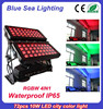 Professional IP65 72pcs 10w rgbw 4 in 1 outdoor led lights wall washer