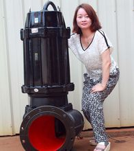electric non-clogging submersible sewage pump heavy with cutting device