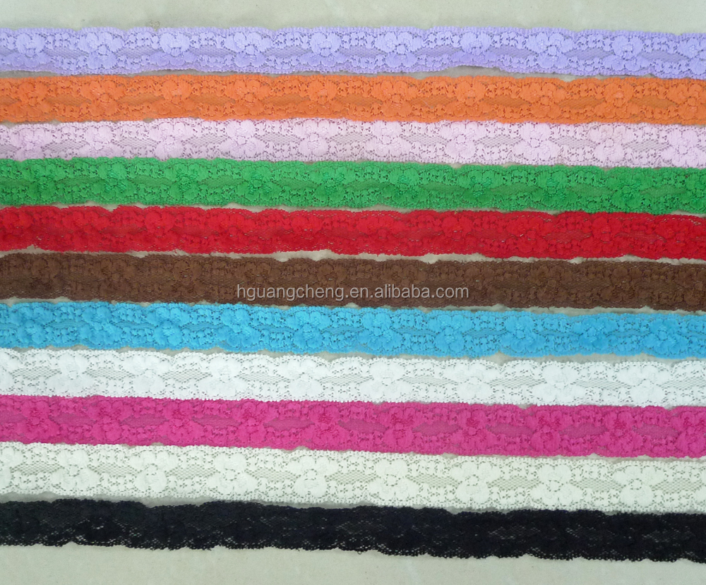 Fancy 23 colors elastic hair tie elastic lace neck tie stock