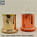 glass cloche with base copper jar
