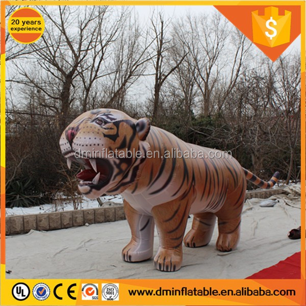 Top quality club party decor inflatable tiger cartoon/advertising tiger costume