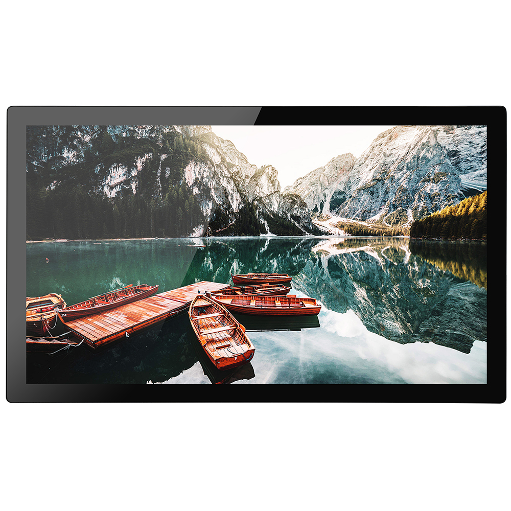 New design 21.5 inch IP66 front waterproof monitor with Aluminum alloy bezel industrial touch monitor
