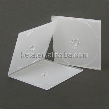 5.2mm Super Slim Square Frosty Clear Cover PP Case For Double CD