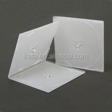 5.2mm Super Slim Square Frosty Clear Cover PP VCD Case For Double CD