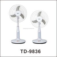 Indoor use 12V solar rechargeable fan stand Floor 16 inch solar dc fan