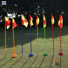 slalom Pole Football Soccer Corner Flags with base