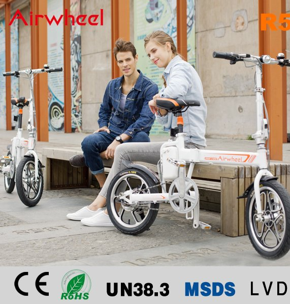 Two Wheel 16inch Folding Electric Bicycle Airwheel R5 with battery