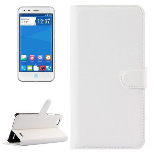 New Product Solid color Design Flip Leather Cell Phone Case for ZTE Blade S6 Lux