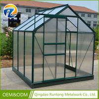Wholesale Transparent Polycarbonate Aluminium Tomato Greenhouse