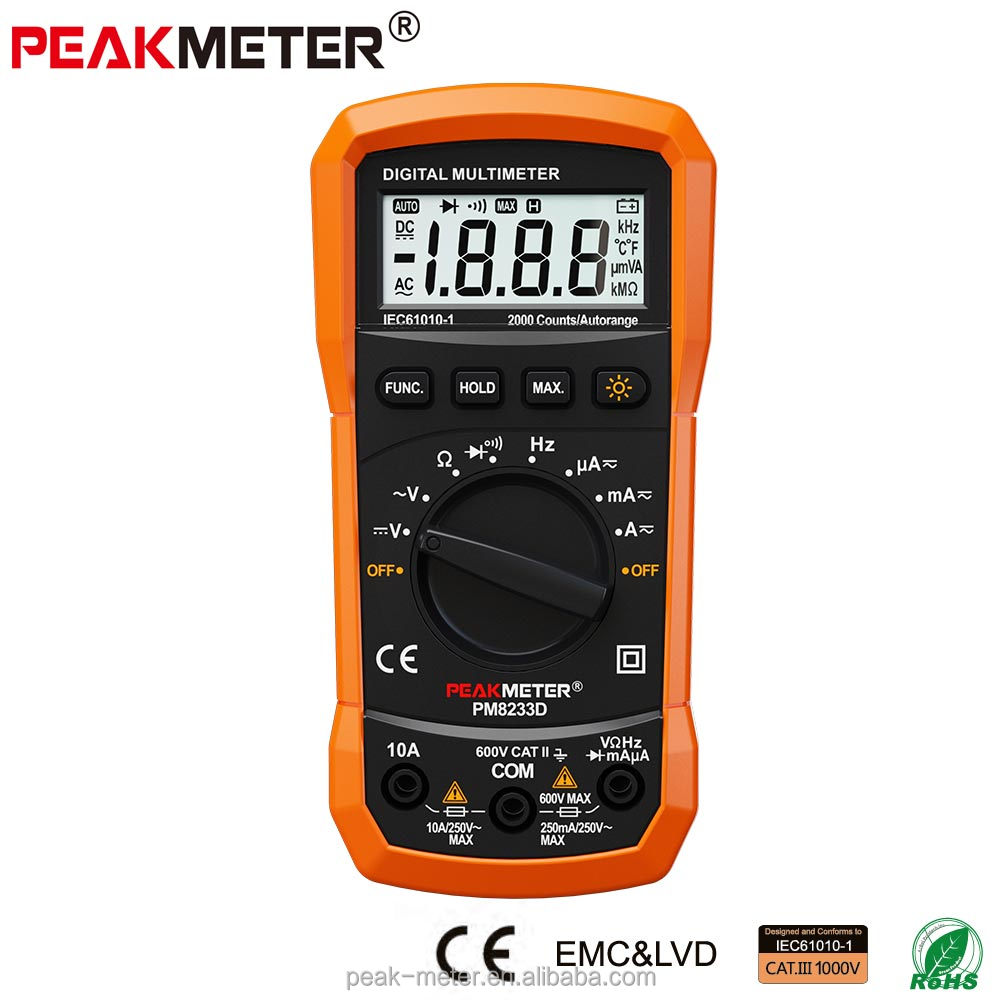 Best China modern Voltage Measurement Multimeter Digital meter PM8233D with Rohs
