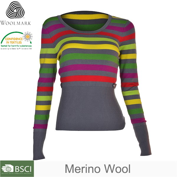 Professional OEM merino knit sweater supplier, woolen sweater designs for ladies