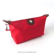Promotional hot selling new product dumpling wrap cosmetics bag cute custom satin makeup bag fashion dumplings cosmetic bag