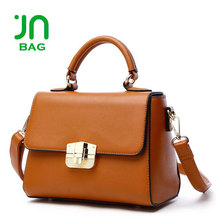 JIANUO Cavalinho shoulder strap leather handbag custom leather lady bag