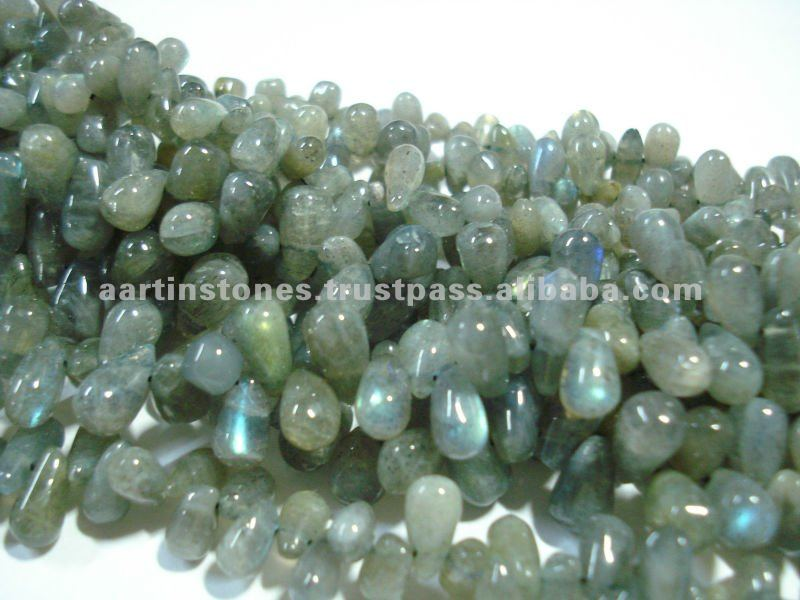 Labradorite gemstone drops beads