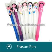 New Design Novelty Beautiful Gifts Nurse Pen, Soft Polymer Clay Ball Pen