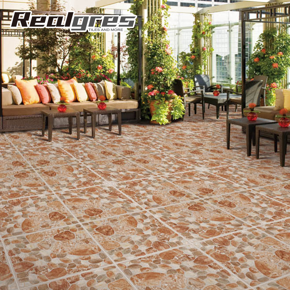 Outdoor ceramic tiles