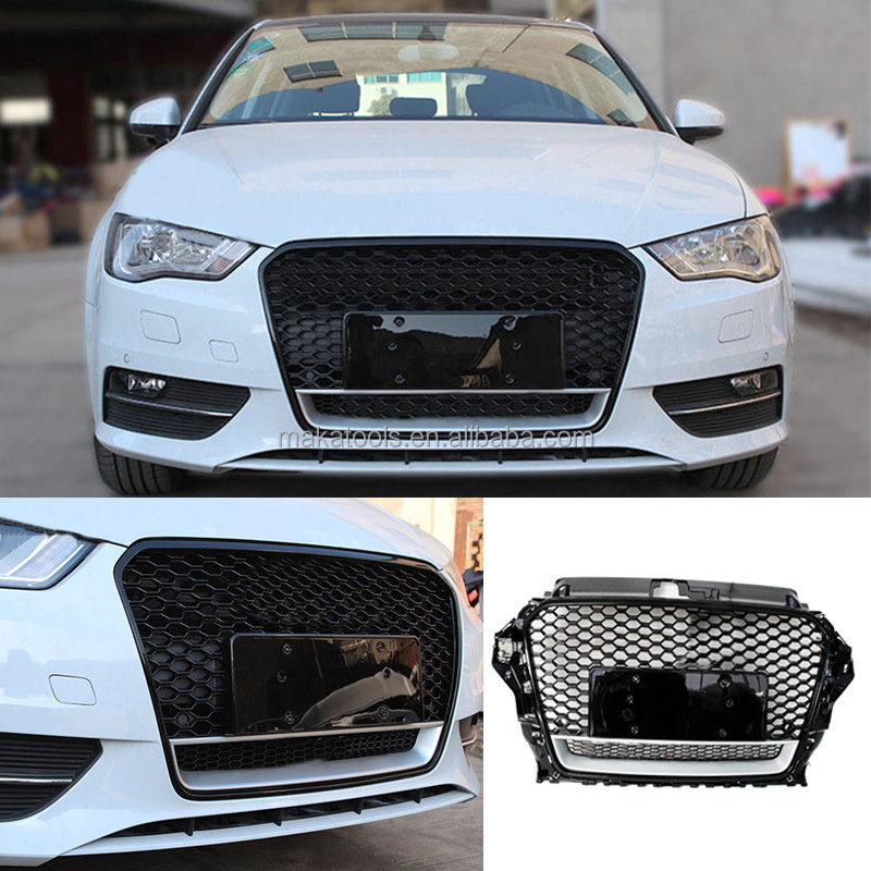 Auto Parts Car Grille Mesh Frame Fitting For Audi A3 2014-2015