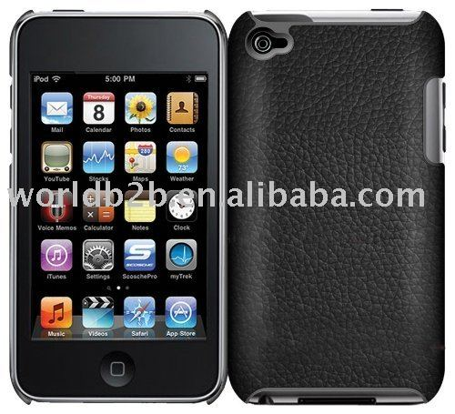 Leather Skin hard Case Cover for iPod touch 4