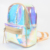 Girl's Sliver Mini Laser Leather School Bookbag Travel Casual Daypack Holographic Backpack