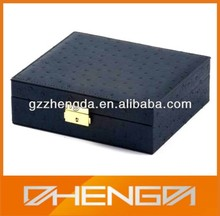 Custom High Quality Leather Hinged Box with Lids