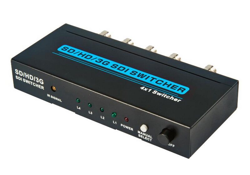 SD/HD/ 3G SDI Seamless Switcher 4x1