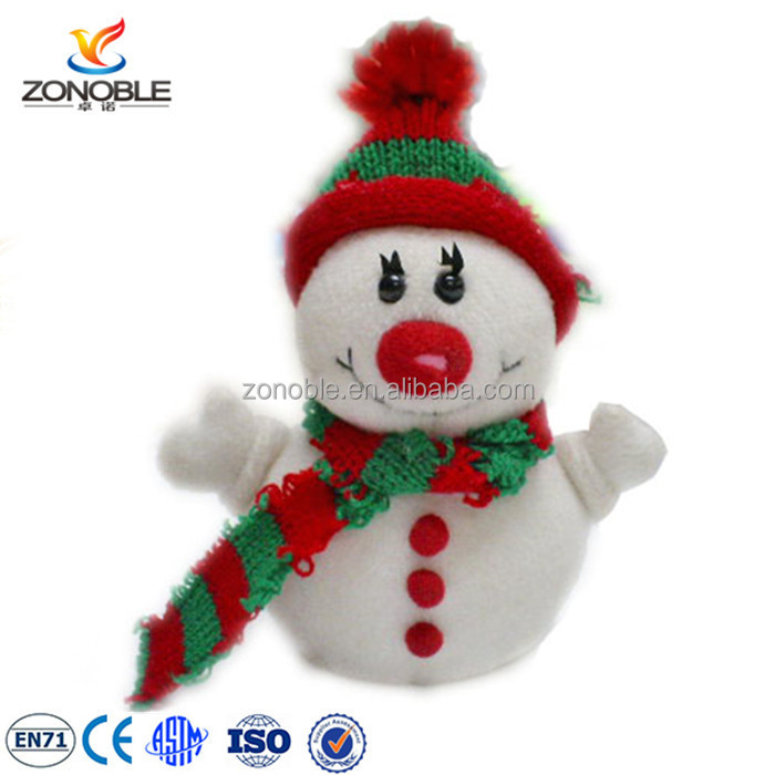 Promotional cheap plush christmas toy snowman wholesale chirstmas toy for sale
