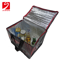 Promotional insulated folding disposable cooler bag for frozen (ice cube bag)