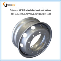 15 DC Tubeless steel wheels for truck/ passenger buses/ trailer