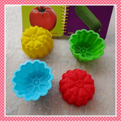 Flower Shape Decorating Party Silicone Cake Mold Cupcake and Muffin Baking Cup