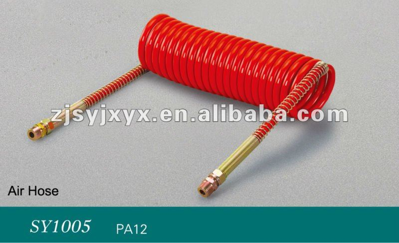 red 7m length air hose, pneumatic sprial hose/tube.pipe with high quality
