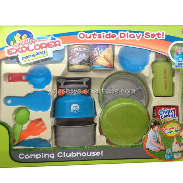 2014 Funny plastic children camping cookware set toys